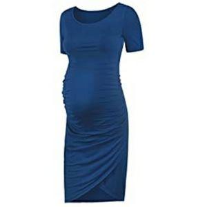 Womens Maternity Bodycon Wrap Dress, LIKE NEW